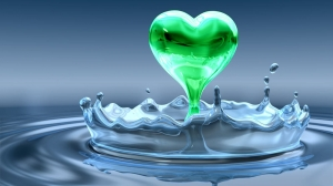 Green heart water